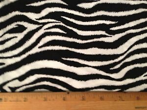 Zebra-animal-stripes-black-white-1yd-19-x43-quilt-craft-sewing-cotton-fabric