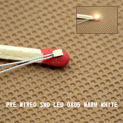 20-40pcs Pre-soldered litz wired leads Bi-color RED//WHITE SMD Led 0605 NEW