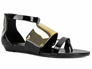 e24953ce244 Image is loading BCBGeneration-Women-039-s-Angelika-Gladiator-Flat-Thong-