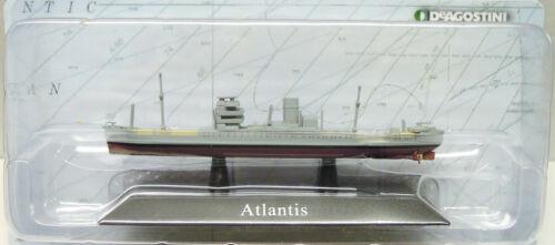 """NEUF Marine de guerre Atlas terminé modèle CROISEURS AUXILIAIRES /""""Atlantis/"""" 1:1250"""