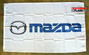 Mazda Flag Banner 3x5 ft Japanese Cars Products Wall Garage Speed White