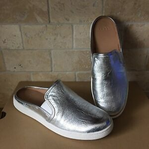 26d474ca17a Details about UGG LUCI METALLIC SILVER LEATHER SLIP-ON SNEAKER LOAFERS  SHOES SIZE US 11 WOMENS