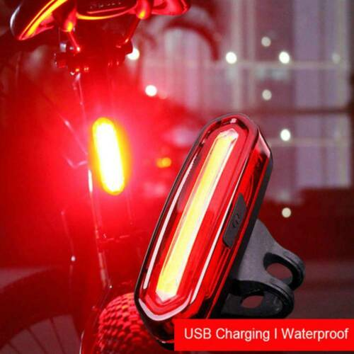 CA Super Bright LED USB Rechargeable Warning Bicycle Bike Cycling Tail Rear CA