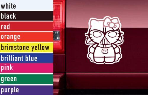 Star Wars Hello Kitty Darth Vader Vinyl Sticker Decal Car-Truck Laptop 2981