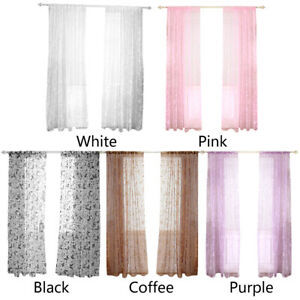 Butterfly-Print-Flocking-Tulle-Curtains-Living-Room-Half-Blackout-Window-Screen