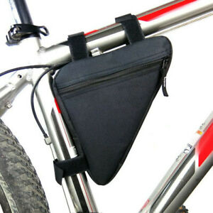 US-Cycling-Road-MTB-Bicycle-Bike-Front-Tube-Bags-Zipper-Storage-Pack-Frame-Bag