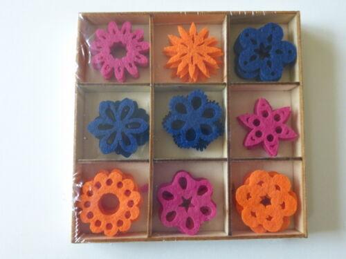 36 flores fieltro streudeko centro de mesa streuelemente bricolaje tarjetas diseño