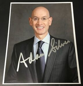 Adam-Silver-NBA-Commissioner-Signed-8x10-Photo-Authentic-Autograph-Auto-2