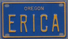 Mini License Plate ANDREA Blue Oregon Name Tag Bicycle Plate!