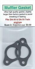 DA-35 & DA-70 Twin Exhaust/Muffler Gasket 2 Pack NIP