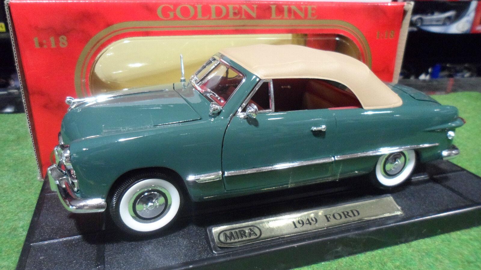 1949 ford cabriolet soft top vert 1 18  mira 06904 voiture miniature d collection  voici la dernière