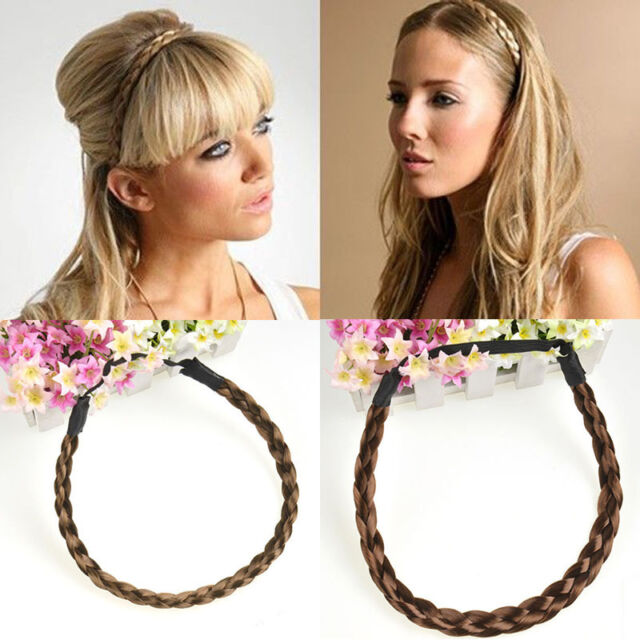 Korean Style Women  Braided Headband Elastic Plaited Boho Hair Hoop Hairband New