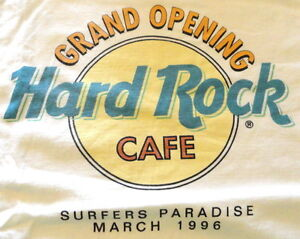 Hard-Rock-Cafe-SURFERS-PARADISE-1996-Grand-Opening-White-Tee-T-SHIRT-XL-24-034-x18-034