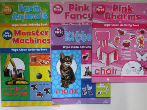 My First Wipe Clean Activity Book Games Learn Develope Skills Words Colour NEW