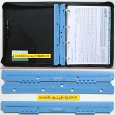 PORTABLE HOLE PUNCH PAGE INSERT 30cm RULER MARKER FOR A4 PORTFOLIO RING FILOFAX