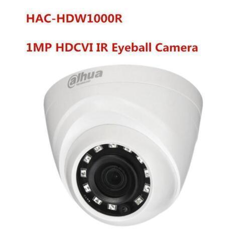 "Dahua 1MP HDCVI IR Eyeball Camera HAC-HDW1000R Smart IR20m 1//4/"" CMOS Dome 3.6mm"