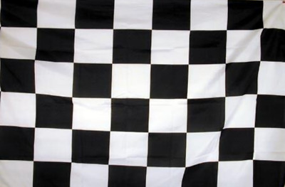 """/""""BLACK /& RED CHECKER/"""" flag 2x3 ft polyester race racing check"""