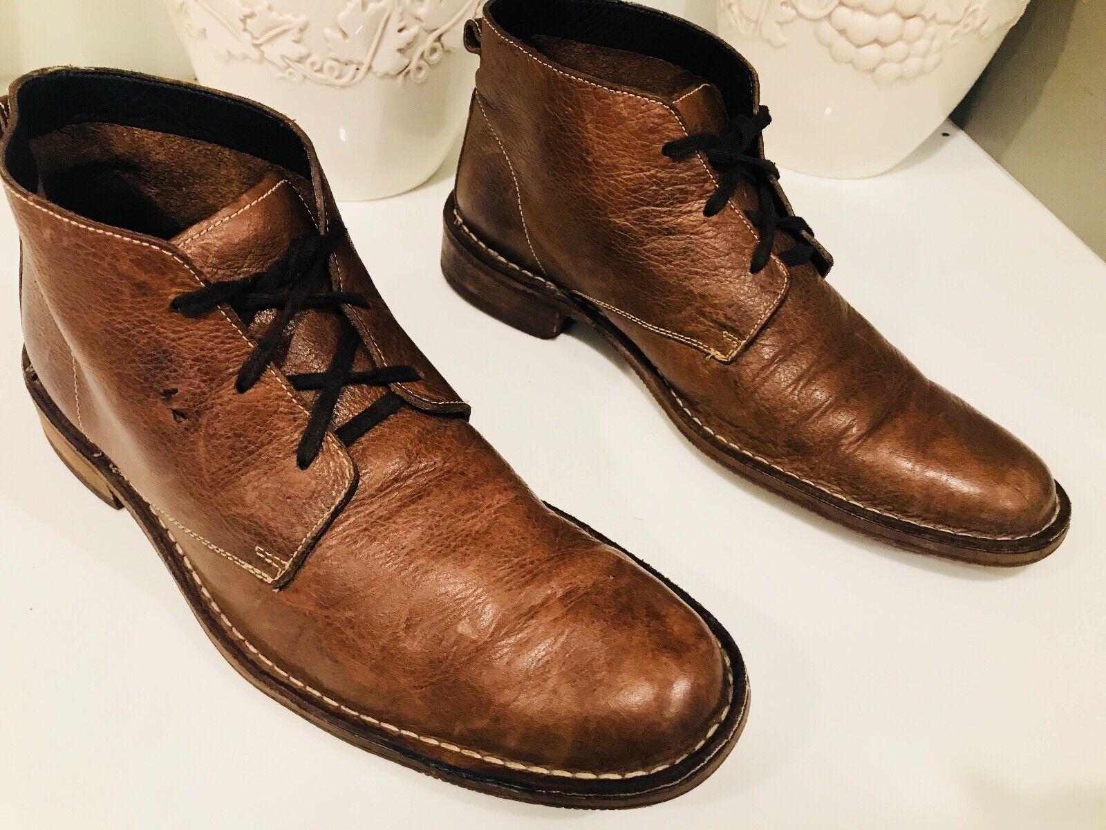 Cole Haan marrón, geneune Leather chukka, botas tobilleras de 11 metros.