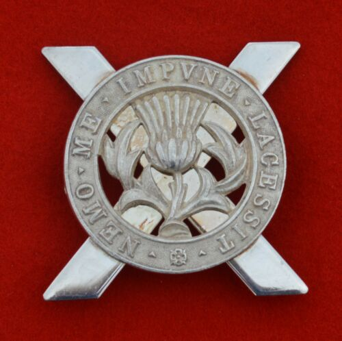 British Army. Lowland Brigade Genuine Officer's Cap Badge