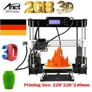 Anet A8 I3 Reprap DIY imprimante Kit 3D LCD MK8 Extrudeuse Printer + 8GB SD Card