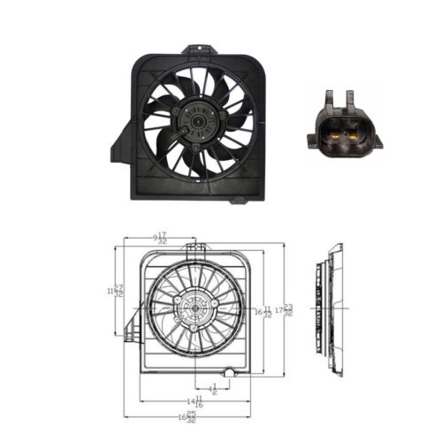 Cooling fan Assembly Radiator Fan 2001-2004 Chrysler Town /& Country Fits