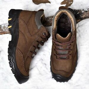 Men-039-s-Winter-Genuine-Leather-Outdoor-Snow-Boots-Cotton-Inside-Warm-Casual-Shoes