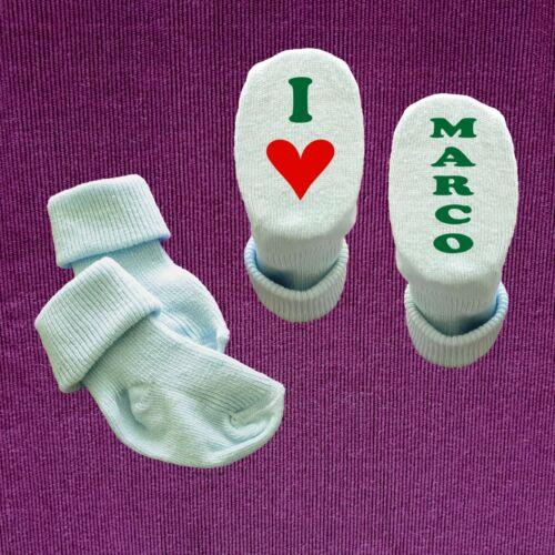 Babysocken Baby Socken I Love Oma Opa Papa Mama Tante Onkel oder MIT Wunschname
