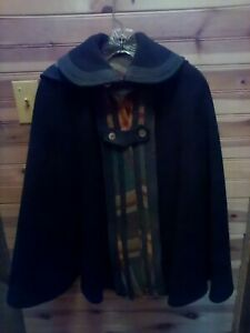 ANTIQUE-1890-1910-HANDMADE-CAPE-WITH-HOOD-POSSIBLY-WOOL