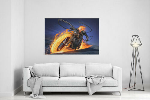 Ghost Rider Canvas Print Poster Ghost Rider Wall Art Artwork Painting Decor