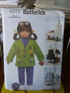 Oop-Butterick-Rachel-Wallis-6373-23-034-doll-clothes-4-complete-outfits-NEW