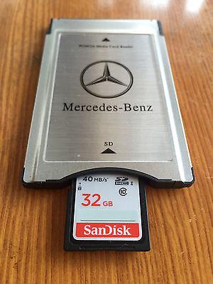 32 GB PCMCIA SD Card for Mercedes COMAND APS w221 S Class
