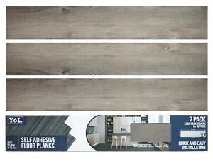 Floor Planks Tiles Self Adhesive Dark Grey Wood Vinyl Flooring Kitchen Bathroom