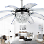 Modern-Crystal-Ceiling-Fan-Light-LED-Chandelier-Remote-Control-Ceiling-Light miniature 1