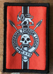 Rhodesian-Foreign-Legion-Morale-Patch-Military-Tactical-Army-FAL-Badge-Hook-NATO