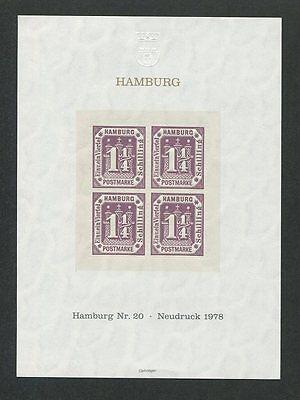 Diverse Philatelie 20 Offizieller Neudruck 1978 Tadellos D8655 Sparen Sie 50-70% Briefmarken Hell Hamburg Nr