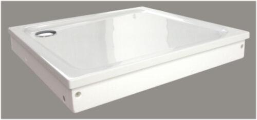 Dusche Duschwanne 90 x 75 mit Träger und Ablauf