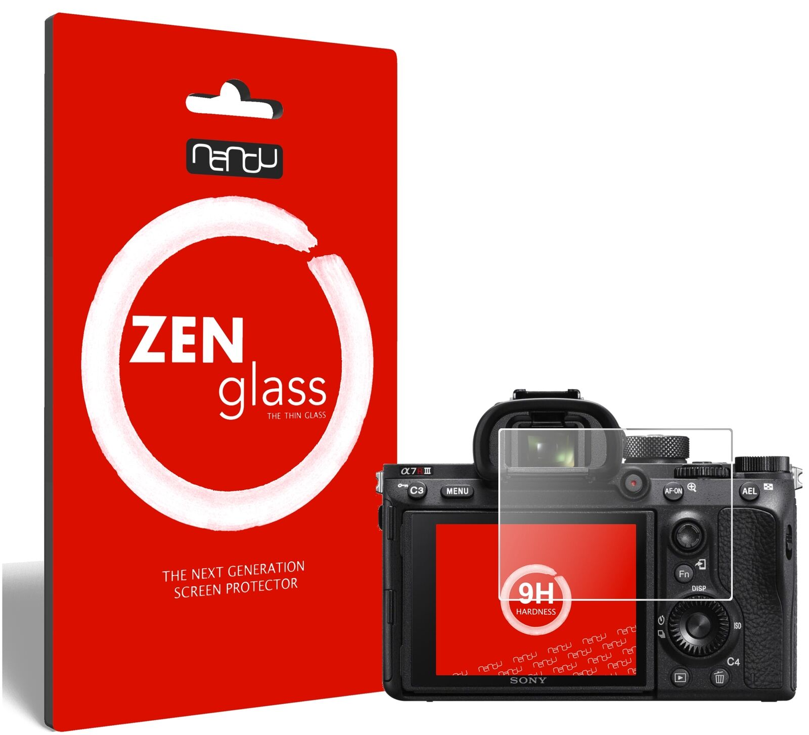 ZenGlass Flexible Glass Film for Sony A7R III I Screen Protector 9H Hardness