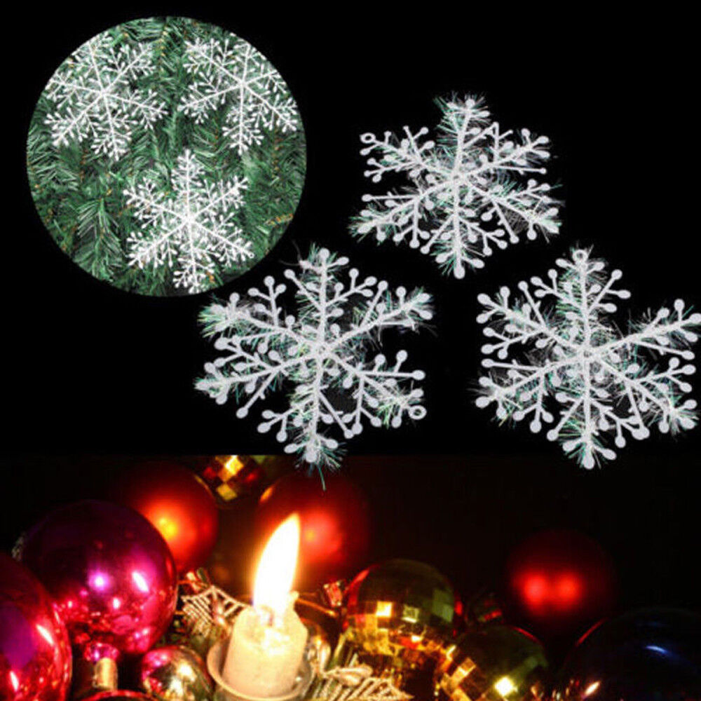 eBay Christmas decorations clearance - 30pcs Snowflakes Hanging Ornaments Window Decorations Festival Party Home Decor