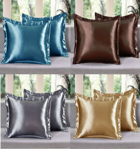 2-Piece-LinenPlus-Collection-Euro-Shams-Satin-Pillow-Case-Available-All-Colors