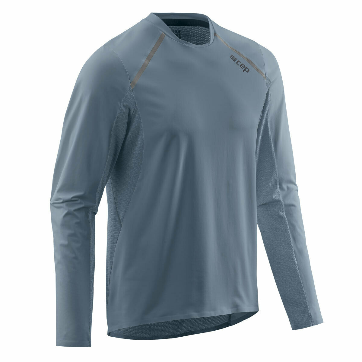CEP Run SHIRT LONG SLEEVE MEN grigio   w91326 funzione di scorrimento Camicia a maniche lunghe