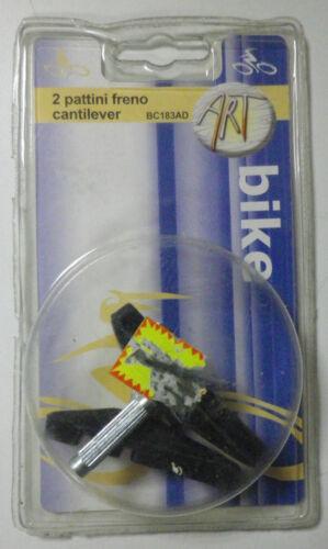 Coppia pattino freno Cantilever 63 mm BC183AD Bicicletta Bici Mountain Bike new