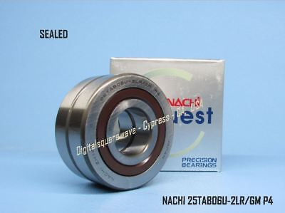 NACHI 25TAB06U-2LR//GM P4-ABEC7 SEALED Ball Screw Bearings. Matched Set of 2