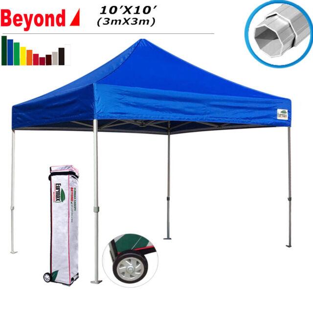 10x10 Ez Pop Up Canopy Alumimum High Quality Outdoor Gazebo Tent w/Octagon  Legs