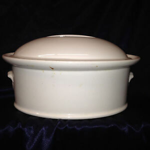 PILLIVUYT FRANCE CULINAIRE WHITE OVAL COVERED CASSEROLE DISH 2 ...