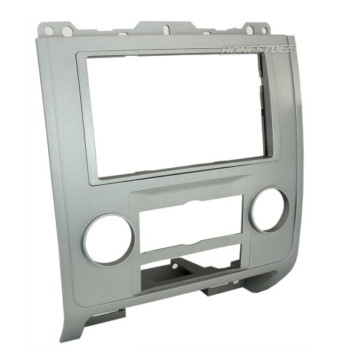 FORD CAR STEREO SINGLE//ISO//DOUBLE//2//D-DIN SILVER RADIO INSTALL DASH KIT 99-5814S