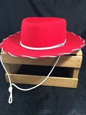 LHC Brands Red Cowboy Hat Youth Kids Size Small Half Pint 100% Wool