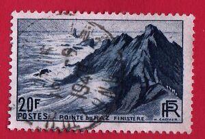 VARIETE-N-764-Pointe-du-Raz-LE-BLEU-ARDOISE-REFLETS-IRISES-obliteres