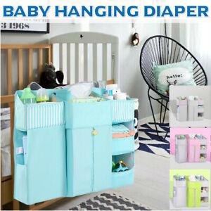 Baby Crib Bed Hanging Storage Bed Diaper Bag Organizer For Crib Nursery