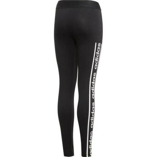 EH6128 Adidas Mädchen Tight Core Favorites in Schwarz-Weiß mit Logo Gr.128-170