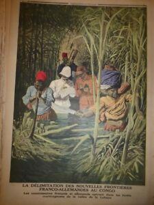 1913-PJV-DELIMITATION-NOUVELLES-FRONTIERES-FRANCO-ALLEMANDES-CONGO-LOBAYE